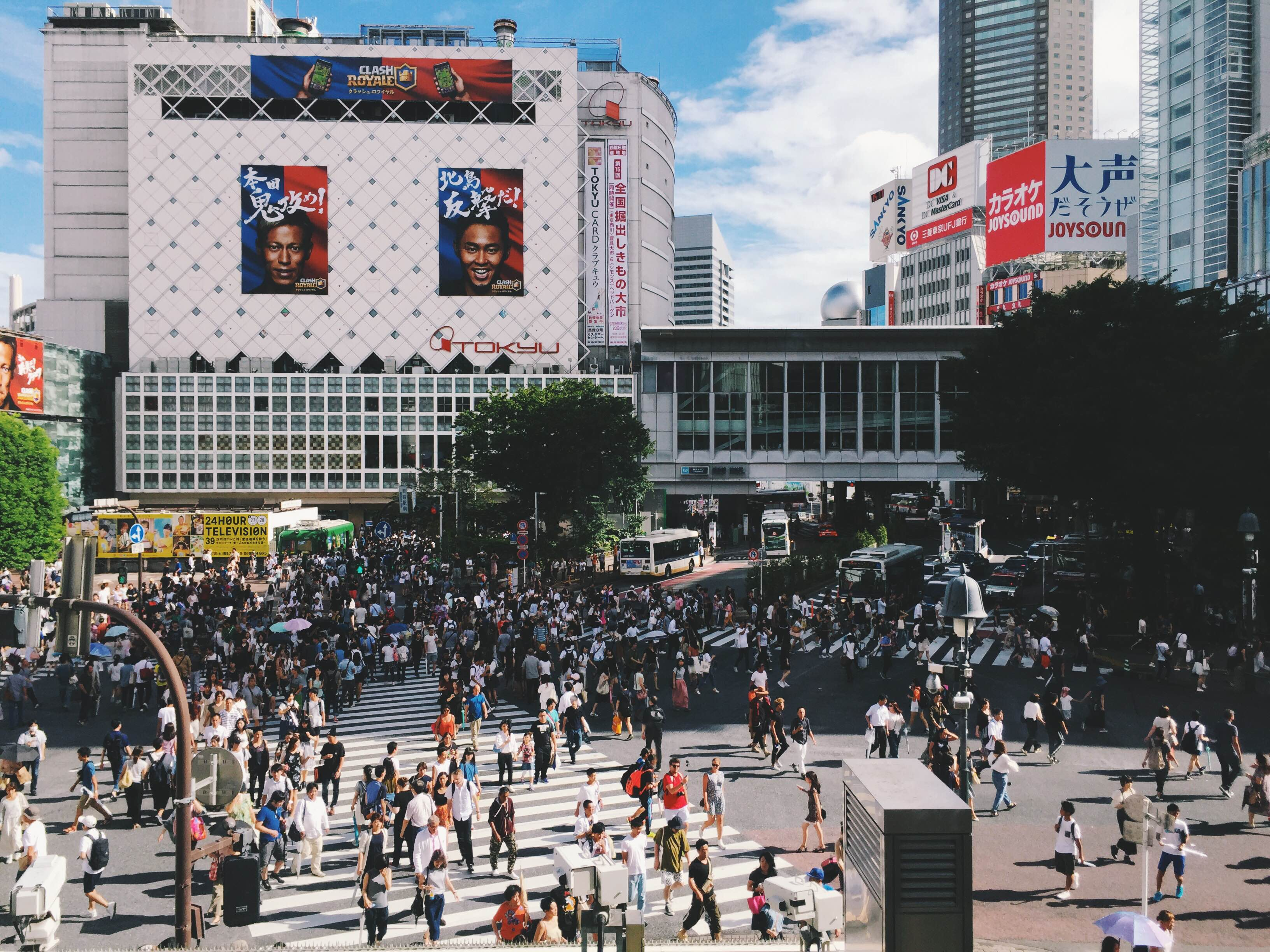 During rush hour, as many as 2,500 people use the Shibuya Crossing in Tokyo. Photo credit: Casey Tran